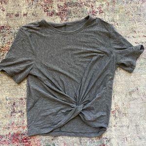LULU LEMON super cute gray top! *barely worn*